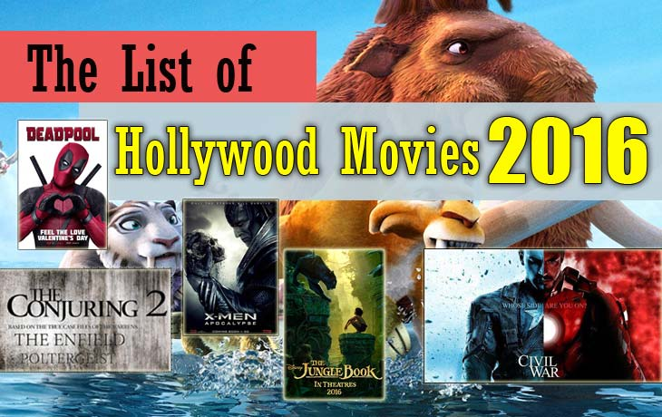 hollywood movies 2016