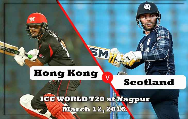 hong Kong vs scotland icc t20 world cup 2016