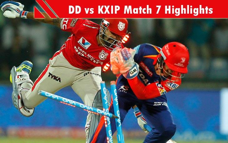 dd vs kxip highlights