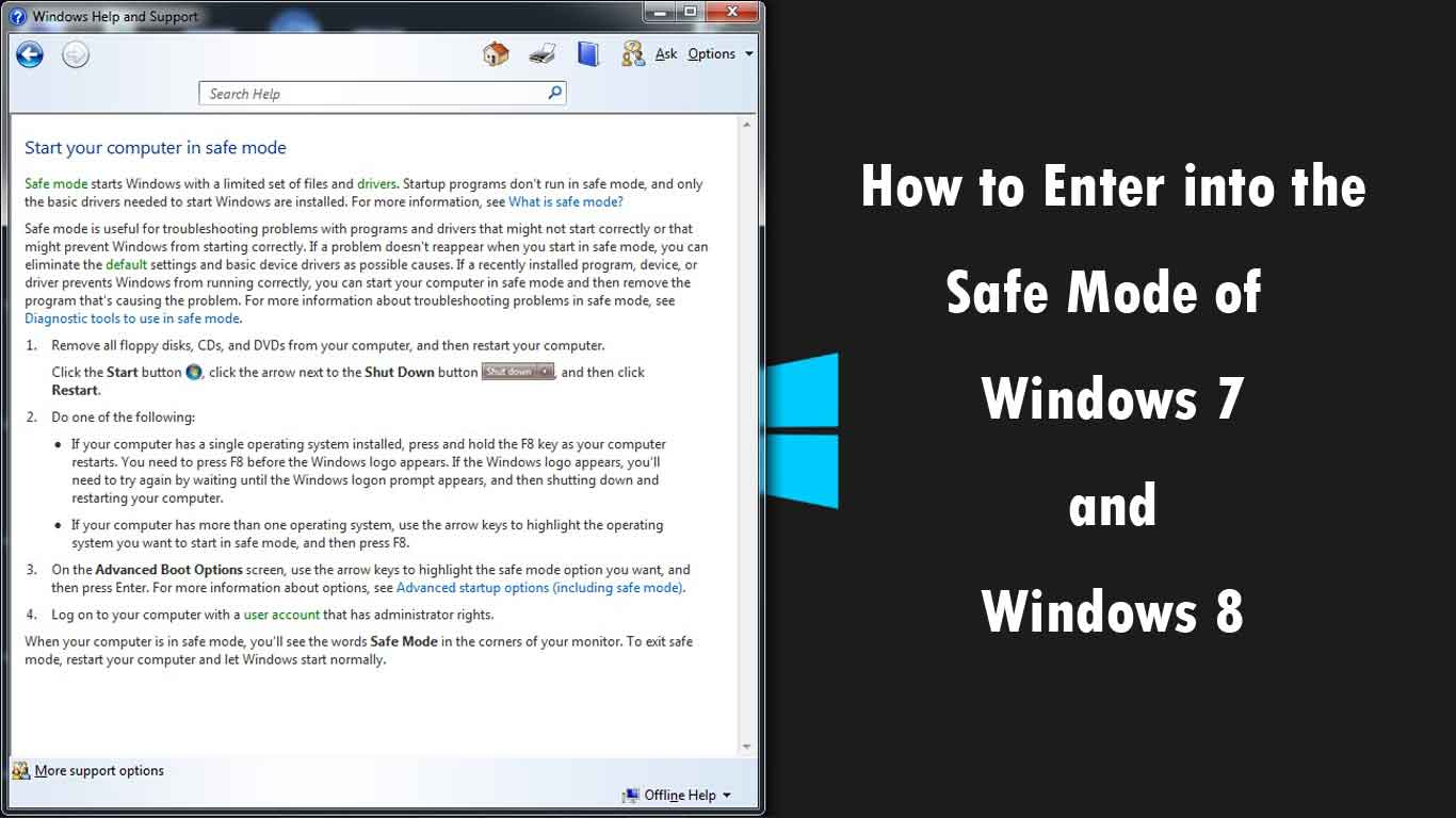 How to Enter into the Safe Mode of your Windows 7 and Windows 8