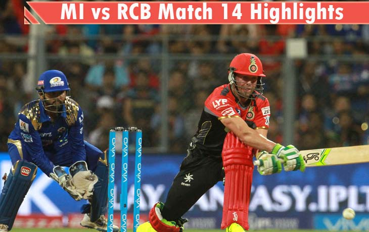 MI vs RCB Highlights