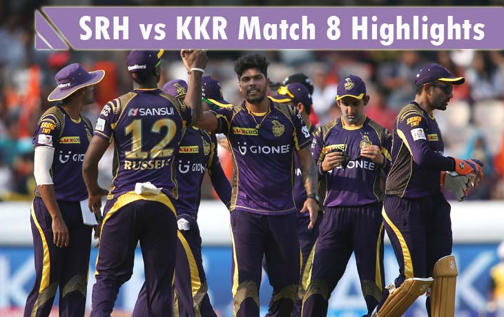 SRH vs KKR Highlights
