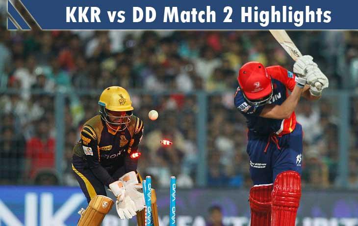 KKR vs DD Highlights