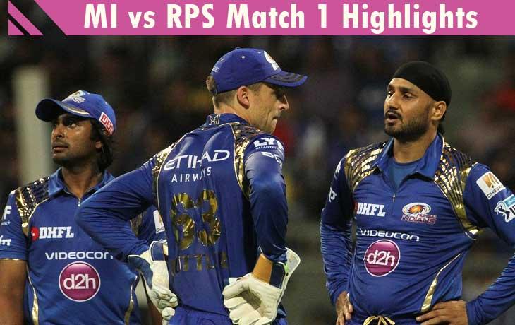 MI vs RPS Match 1 Highlights