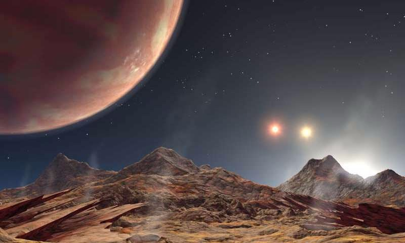 triple star system planet image