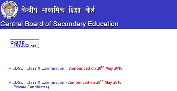 CBSE_Class_X_Examination_Result_2016