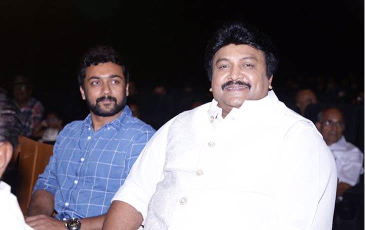 Prabhu & Suriya at the audio launch of Meenkuzhambum Manpaanayum | Twitter Image