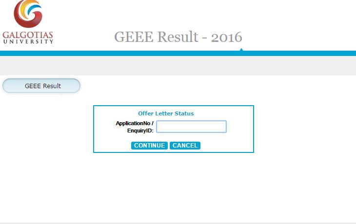 GEEE Result 2016