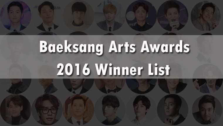 Baeksang Arts Awards 2016