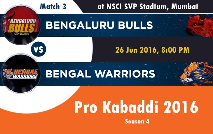 Bengaluru Bulls vs Bengal Warriors