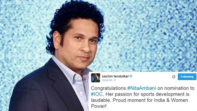 Celebrities congratulate Nita Ambani for IOC nomination