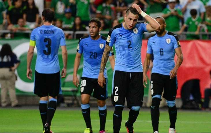 Chile National Anthem was played for Uruguay at CA 2016
