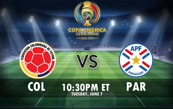 Colombia vs Paraguay Live Streaming Copa America 2016