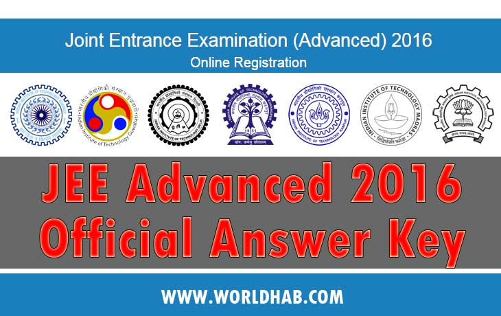 JEE Advanced Answer Key 2016