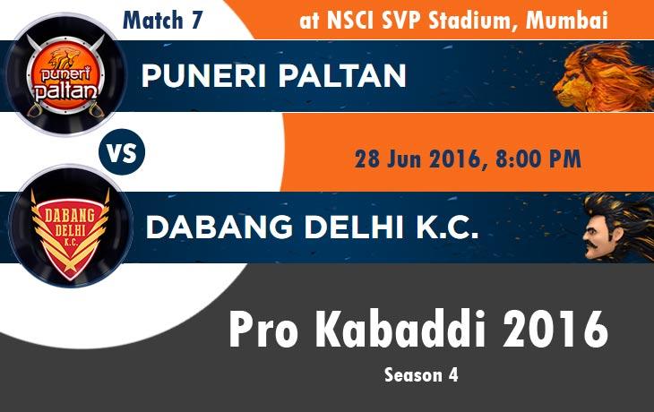 Puneri Paltan vs Dabang Delhi K.C. (PUN v DEL)
