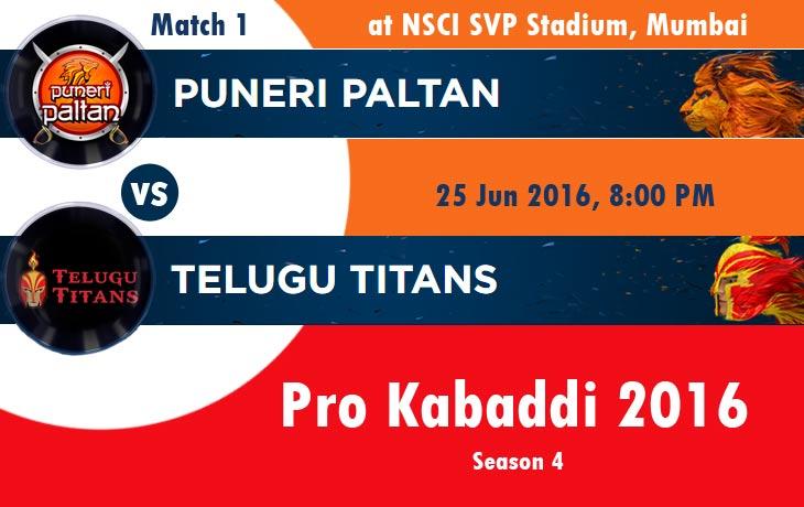 Puneri Paltan vs Telugu Titans
