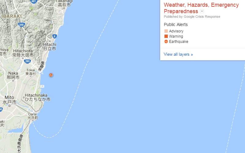 Earthquake at Japan