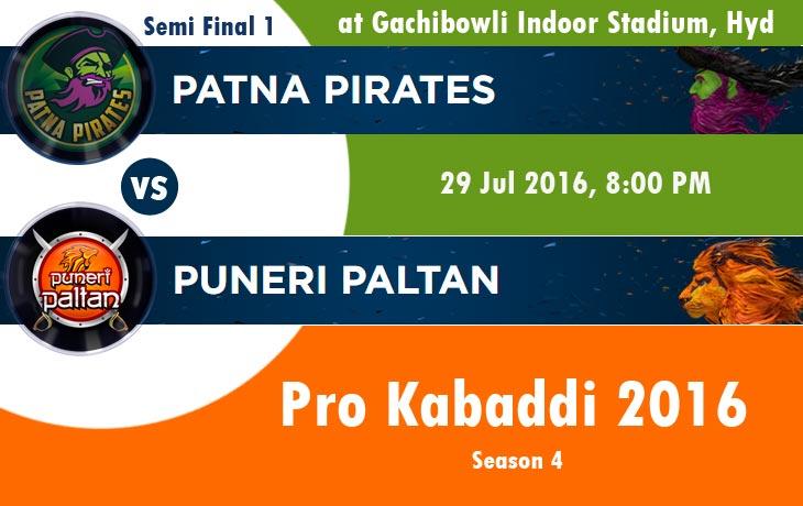 Patna Pirates vs Puneri Paltan