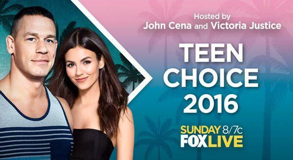 Teen Choice Awards 2016 Winner List, Nomination