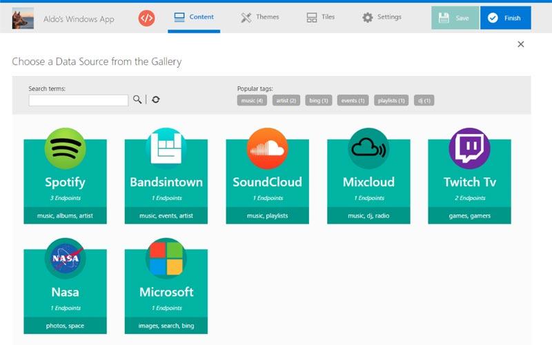 Windows App Studio Introducing community-driven API gallery