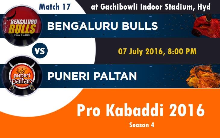 Bengaluru bulls vs puneri paltan