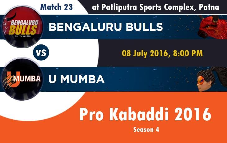 Bengaluru Bulls vs U Mumba