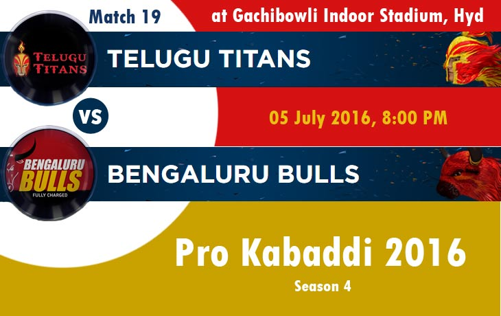 Telugu Titans vs Bengaluru Bulls