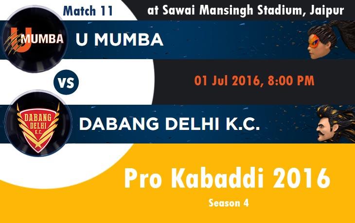 U Mumba vs Dabang Delhi K.C.