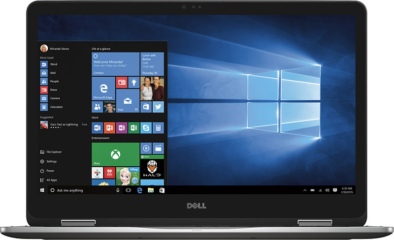 "Dell Inspiron 2-in-1 17.3"" touch screen Laptop - Windows 10 PC Anniversary Offers"