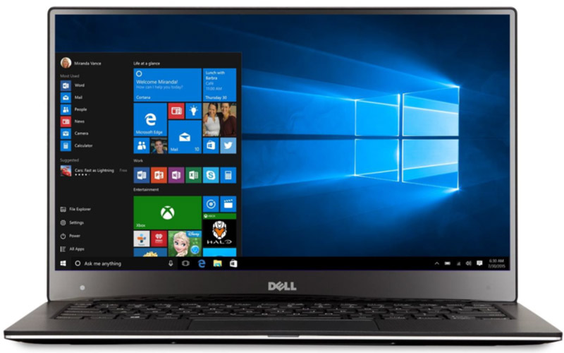 Dell XPS 13 - Windows 10 PC Anniversary Offers