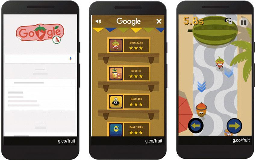 Google Doodle Go Bananas Fruit Games