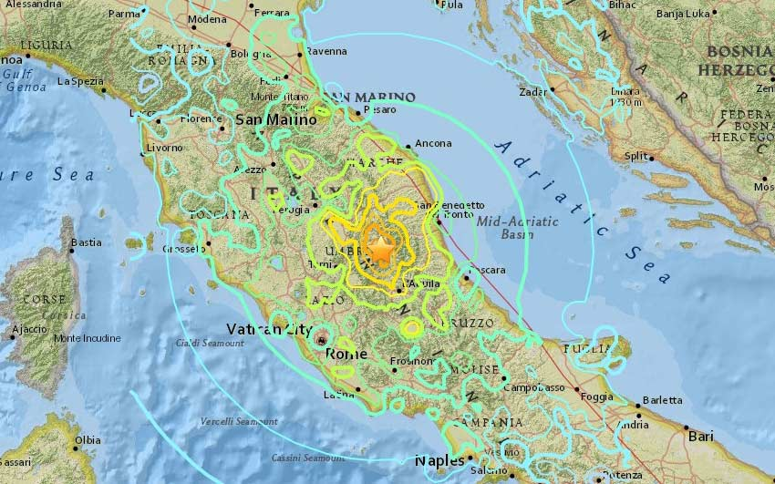 Magnitude 6.2 earthquake strikes Rome, Italy