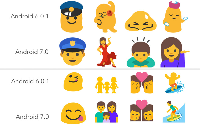 Android 7 Nougat with Nexus devices Rolled Out - More Emoji, Features