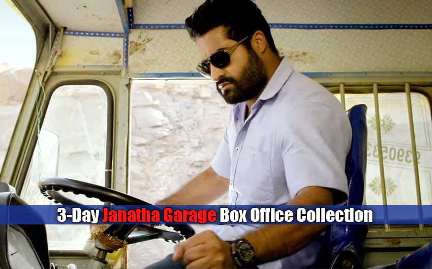 Jr NTR-Mohanlal's 3-Day Janatha Garage Box Office Collection