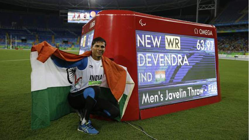 Devendra Jhajharia wins Gold Medal in F-46 Javelin throw