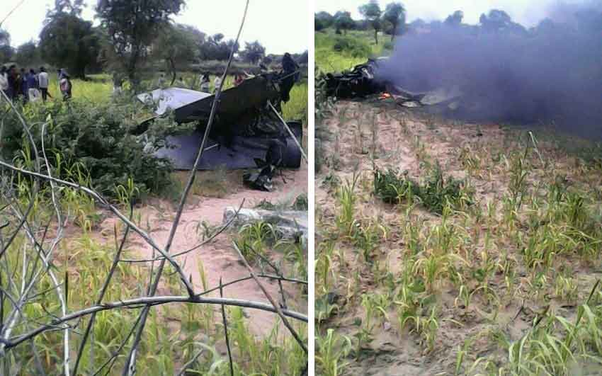 IAF MiG 21 aircraft crashes in Rajasthan, pilots eject safely