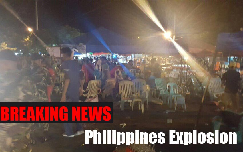 Philippines Explosion: At least 10 Killed at the night market in Davao city