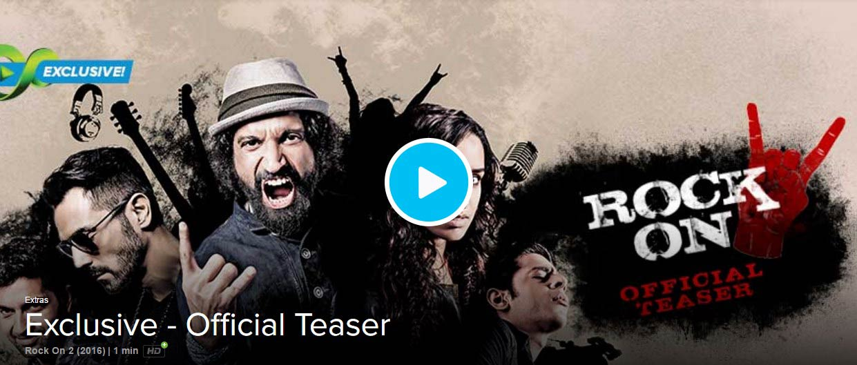 [VIDEO] RockOn 2 Teaser Trailer Released: Farhan, Arjun, Shraddha
