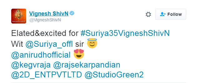 Suriya 35 Movie Updates: Director Vignesh Shivan, Anirudh, Studio Green