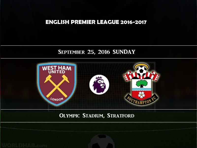 West Ham United vs Southampton