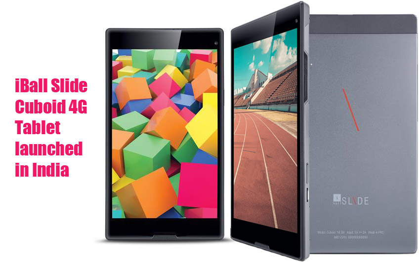 iBall Slide Cuboid 4G tablet launched in India