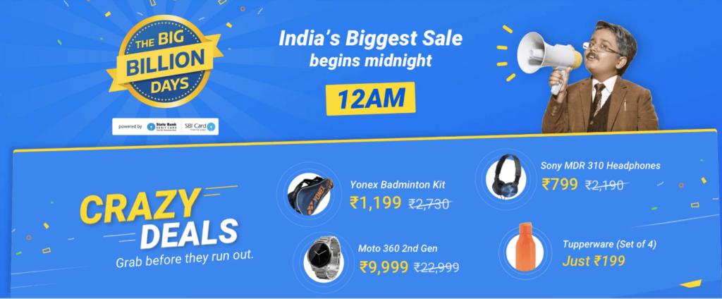 Flipkart Big Billion Day Sale Deals and Offer