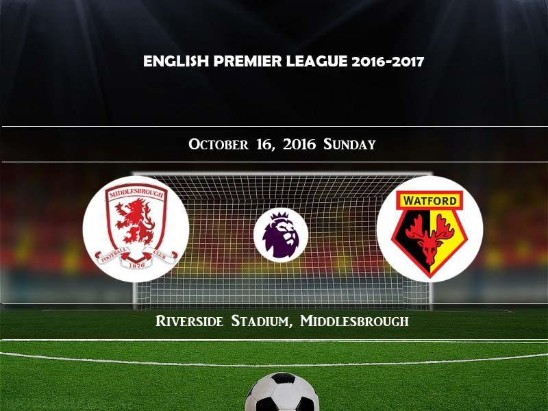 Middlesbrough vs watford