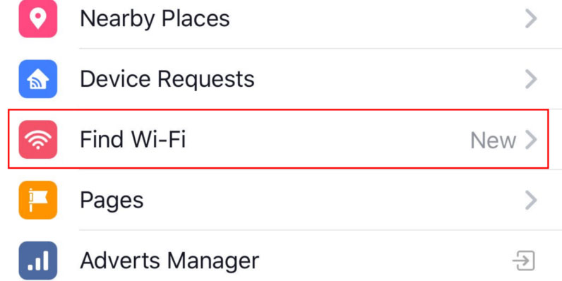 Now Facebook Find Wi-Fi update is running on Latest versions