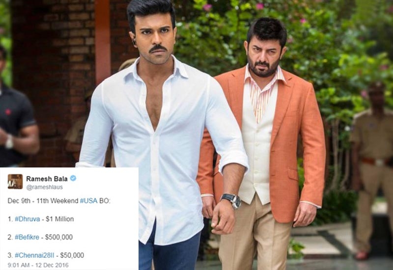 Dhruva box office collection: Ram Charan generates $1 Million in the USA