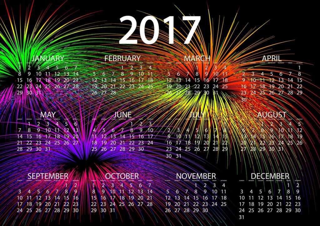 New Year 2017 Calender Image
