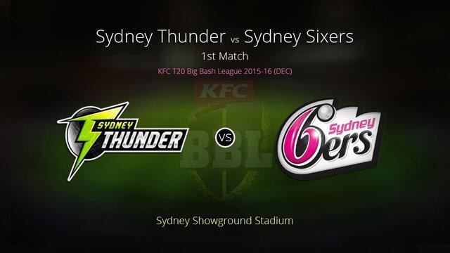 Sydney Thunder vs Sydney Sixers