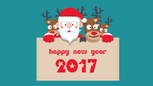 happy new year 2017 by santa