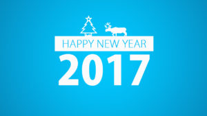 happy new year 2017 blue wallpaper