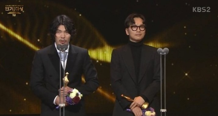 "Best Actor for Short Dramas Award – Kim Sung Oh (""Baek-hee Has Returned"") and Lee Dong Hwi (""Drama Special – Red Teacher"")"